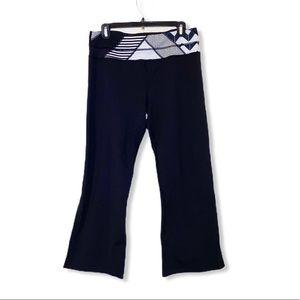 LULULEMON black cropped wide leg pants